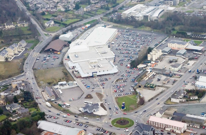 Letterkenny Shopping Centre aerial view